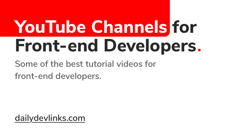 Best YouTube Channels for Front-end Developers